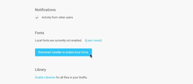 как добавить шрифт в figma в браузере